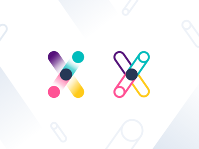 Genomelink Branding gradients chromosome dots patterns identity startup link genome genom dna branding