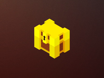 Loot Box Opening Animations treasure loot box animation treasure chest chest voxel voxelart yellow illustration space coins
