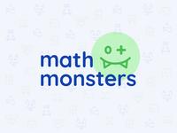 Math Monsters Kids Game Animated Logo
