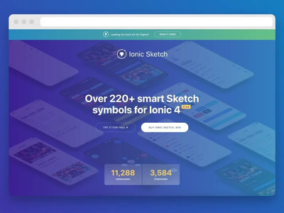 Ionic Sketch Premium UI Kit for Sketch (obviously) ionic framework ionic vector sketchapp ui ui kit sketch