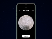 Moonshine App video animation mobile app exploration sci-fi moon