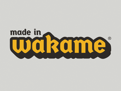 Made in Wakame Studio lettering art illustrator web typography vector branding logo design illustration
