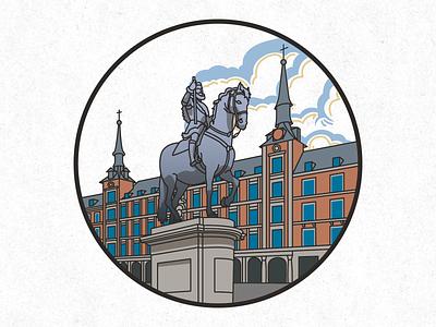 Madrid vector illustration vector art vector illustrator illustration design city illustration city art