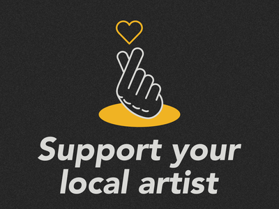 Support your local artist vector illustration logo artist local support local artists support branding vector illustrator illustration design art