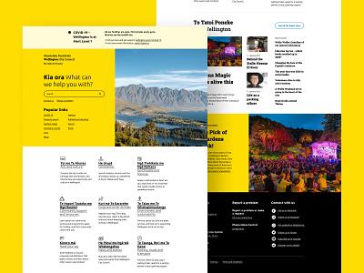 Copywork Day 2: Wellington City Council yellow landing page ux ui