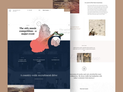 Copywork Day 4 - Music and musicians at the Royal Chapel simple museum web design clean minimal