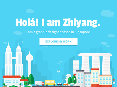 Landing Page Illustration skyline house graphic vector illustration