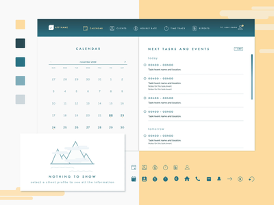 SitterLance: a productivity tool for babysitters ux ui product design imaginary cloud app design animation planner productivity babysitter