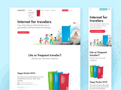 TravelWifi: an e-commerce platform for portable internet wifi travel internet e-comerce imaginarycloud design productdesign ux ui