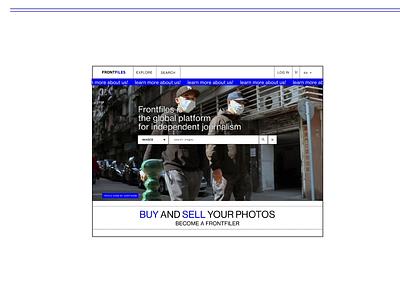 Frontfiles: collaborative network platform ui ux product design platform photojournalism marketplace imaginary cloud editorial design content