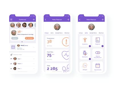 Health Care healthcare imaginarycloud caregivers clean ui health app mobile app ios