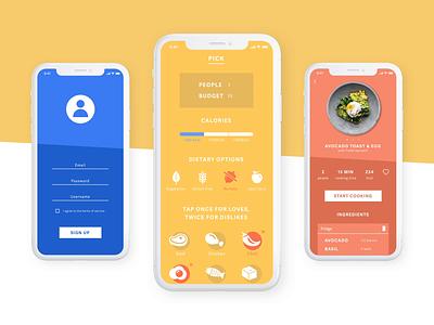 Recipe App Concept ios foodie diet food colourful design concept recipe app ui design imaginarycloud