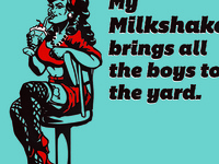 Milkshake Bar Pin Up