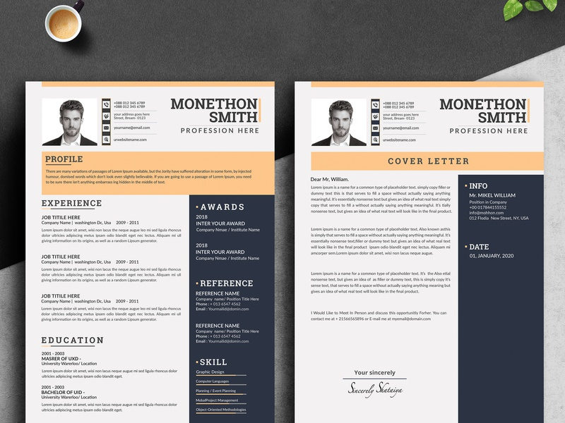 Resume word resume template resume template resume layout resume download resume minimalist resume job resume clean resume design classic resume 3 page resume cover letter clean resume clean cv clean bundle bright blue a4