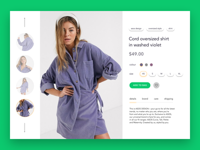 E-Commerce Shop (Single Item) — daily UI 012 buy ecommerce market shop content design challenge daily ui flat digital web e-commerce e-comerce concept ui dailyui