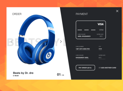 Credit Card Checkout — daily UI 002