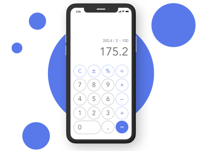 Calculator — daily UI 004 004 daily 100 challenge daily ui dailyui daily concept clean minimalism mobile ux design app ui calculator