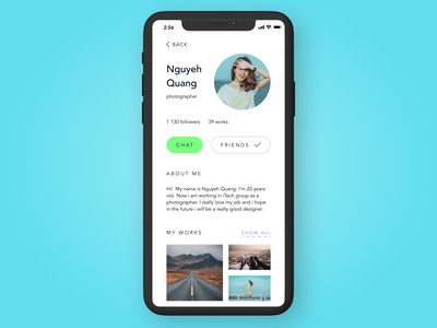 User profile — daily UI 006 figmadesign challenge account profile user ui ux social photography digital face user profile daily ui 006 006 ui daily dailyui figma