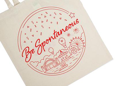 YPlan Tote Bag yplan app tote bag illustration spontaneous city