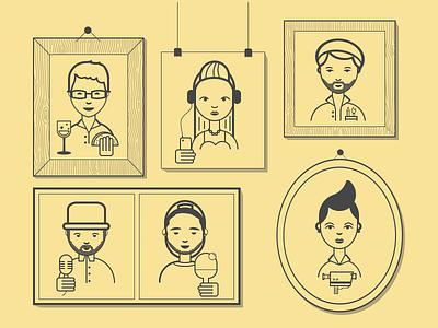 YPlan Family illustration app yplan design portrait ios editors team