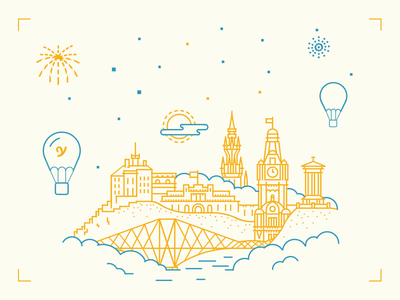 Edinburgh human more product making ui ios app illustration city edinburgh