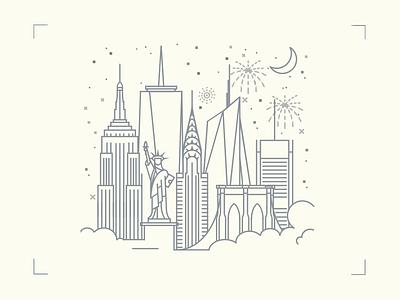 New York New York york new user city icon startup illustration interface ui ios yplan app