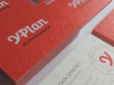 Business Cards pattern fun card business startup illustration ui ios yplan app