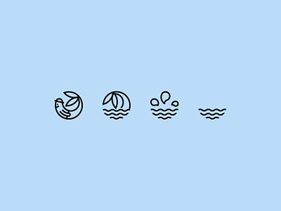 Logo With A Story mermaid splash water illustration logo