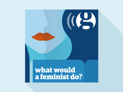 The Guardian Podcast Cover feminist digital cover podcast visual guardian design web illustration