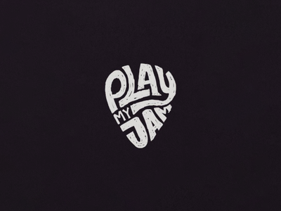 Play my Jam illustration jamming plectrum guitar hand lettering lettering