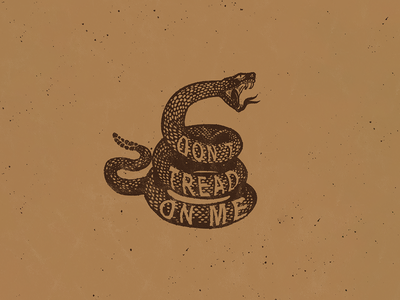 Don't Tread On Me warning tshirt merch typography hand lettering lettering snake illustration