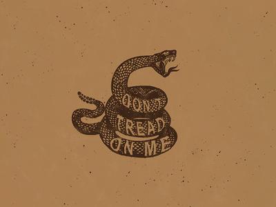 Don't Tread On Me warning tshirt merch typography hand lettering lettering snake illustration