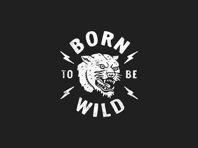 Born to be wild tshirt merch typography lettering tattoo panther illustration