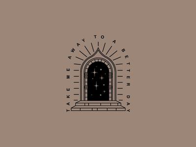 A Better Day tshirt merch typography tattoo door illustration