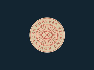Forever Seeking branding illustration. logo badge hand lettering lettering eye seek