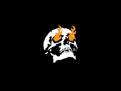 Endless Desire fire icon tattoo skull illustration