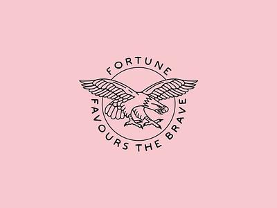 Fortune vector badge lettering eagle illustration