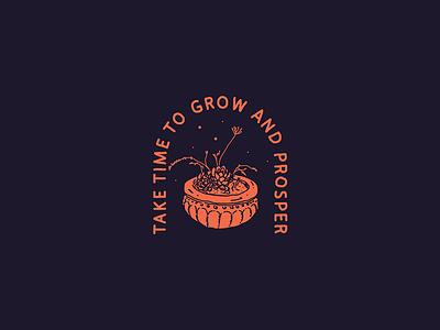 Grow & Prosper packaging logo identity brand badges 1.apparel tshirt hand lettering lettering illustration