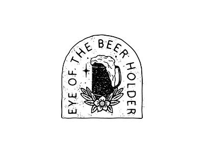 Beer holder beer patch sticker hand lettering lettering illustration