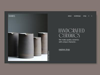 ceramics e-commerce hero concept (2nd version ) concept uiconcept e-commerce webdesign landing page clean ui web design landingpage clear typo clean minimal clean design ceramics uidesign ui design ui