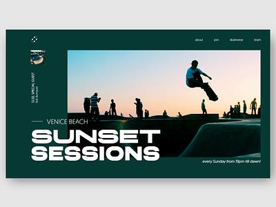 skateboarding page hero concept website design webdesign uiconcept skateboarding typography typo hero section concept clean ui web design ui design uidesign ui landingpage minimal