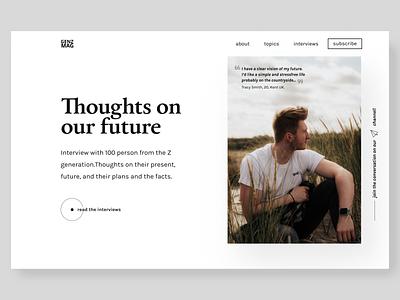 genZ magazin hero concept web designer web desgin webdesigner webdesign uiconcept magazine typo typography landingpage clean ui concept hero section web design ui design uidesign minimal ui
