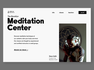 meditation center hero concept typography webdesign concept clean ui hero section minimal web design ui design uidesign ui