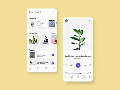 podcast mobile ui concept concept design web design clean ui app design uidesign mobile app design podcast mobile design mobile app mobile ui minimal ui ui design