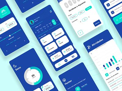 Health Tracker App tracker health mobile design app ux
