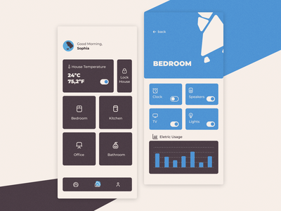 Smart Home App house home concept smart smart home ui mobile design app ux