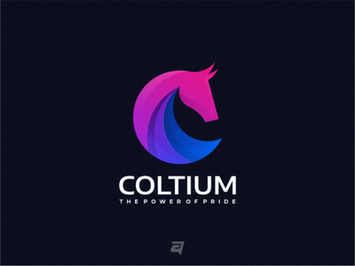 Concept Colorful Logo Design COLTIUM simple modern vector gradient colorful logotype designlogo designgraphic graphic design logo
