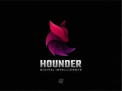 Colorful Logo Design HOUNDER. logo design simple logos graphics graphicdesign logotype logodesign graphic gradient colorful awesome illustration modern vector design logo