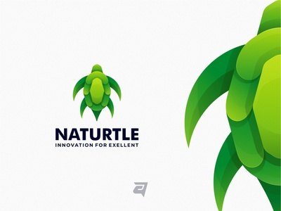 Concept Logo Design NATURETLE memorable turtle vector simple modern logotype logos logodesign logo illustration icon graphics graphicdesign graphic gradient designs design creative colorful awesome