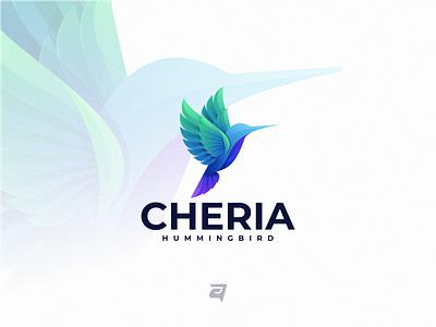 CHERIA colorfull gradient simple animal icon colorful awesome modern illustration vector design logo design logo